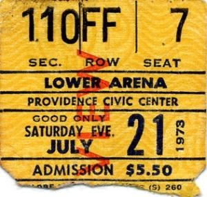 Led Zeppelin Concert Memories: Providence, Rhode Island, 21st July 1973