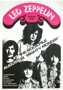 Led Zeppelin Concert Memories: The Rockpile, Toronto, 18th August 1969
