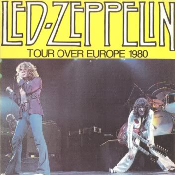 Led Zeppelin Tour Over Europe 1980 Zurich June 1980